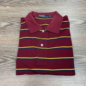 Polo Ralph Lauren Maroon Stripe Polo Shirt XL